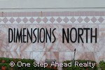 sign for Dimensions North of Chapel Trail